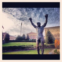 Photo taken at Rocky Statue by Paige on 12/3/2012