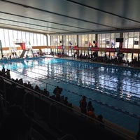 Photo taken at Piscine de Vaise by Paolo V. on 3/2/2014