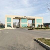Photo taken at Namık Kemal Üniversitesi by Samet K. on 2/25/2013