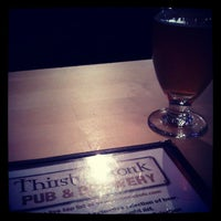 Photo taken at Thirsty Monk Pub & Brewery by kyle c. on 2/23/2013