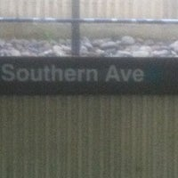 Photo taken at Southern Avenue Metro Station by Ellroy M. on 11/3/2012