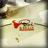 Photo taken at Churrascaria Boi & Brasa by Allan R. on 7/2/2013