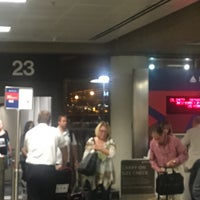 Photo taken at Gate 23 by Tom C. on 8/16/2016
