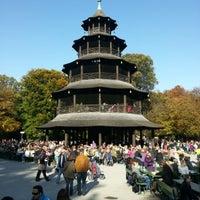 Photo taken at Biergarten am Chinesischen Turm by Kai H. on 10/21/2012