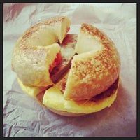 Photo taken at Bruegger's Bagels by Brad M. on 8/4/2013