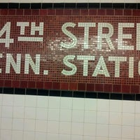Photo taken at MTA Subway - 34th St/Penn Station (1/2/3) by Jess B. on 12/11/2012