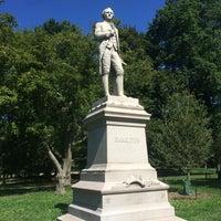 Photo taken at Alexander Hamilton Statue by Jane C. on 8/14/2016