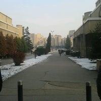 "Photo taken at Универзитет ""Св. Кирил и Методиј"" by Mehmet Akif K. on 12/14/2012"