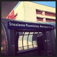Photo taken at Fiumicino Aeroporto railway station (ZRR) by BoBpp on 7/1/2013