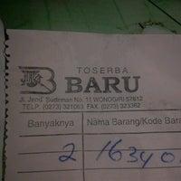 Photo taken at Toserba Baru Wonogiri by Yudha D. on 2/19/2013