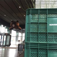 Photo taken at NAVER Green Factory by Hiro O. on 9/27/2016