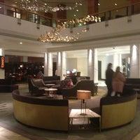 Photo taken at Hilton Glasgow by Zhanara I. on 2/8/2013