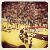 Photo taken at Cassell Coliseum by Kamin H. on 12/1/2012