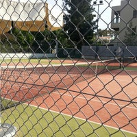 Photo taken at Filothei Tennis Club by Theodore A. on 5/3/2013