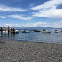 Photo taken at Tahoe Park Homeowners Beach by Risa on 6/30/2015