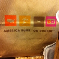 Photo taken at Dunkin' Donuts by Luiza Ioana C. on 11/17/2013