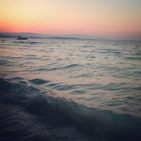 Photo taken at Ilıca Plajı by Elif Y. on 8/9/2013