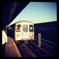 Photo taken at MTA Subway - Rockaway Blvd (A) by Tom🐳 L. on 10/20/2012