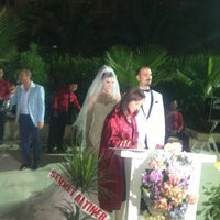 Photo taken at Mersin HiltonSA Hotel by Deria A. on 8/10/2013