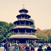 Photo taken at Englischer Garten by Alejandro Q. on 10/13/2012