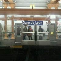 Photo taken at Métro Gare de Lyon [1,14] by KimLan H. on 4/12/2013