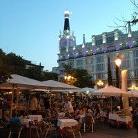 Photo taken at Plaza de Santa Ana by )|( aXxel on 7/14/2013