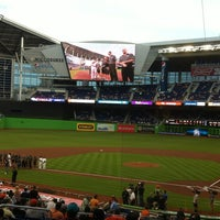 Photo taken at Marlins Park by Alex S. on 4/8/2013
