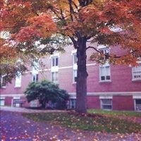 Photo taken at Clark University- Jonas Clark by Raafat Z. on 10/4/2012