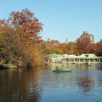 Photo taken at Central Park Boathouse by Anjeline T. on 11/17/2012