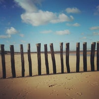 Photo taken at Blériot Plage by Moonsieur P. on 11/16/2013