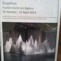 Photo taken at Huddersfield Library & Art Gallery by Rob O. on 2/25/2013