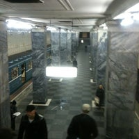 Photo taken at metro Sokolniki by Daniil N. on 10/31/2012