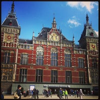 Photo taken at Amsterdam Centraal Railway Station by Irina N. on 4/18/2013