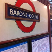 Photo taken at Barons Court London Underground Station by Aldo R. on 12/23/2012