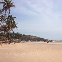 Photo taken at Anjuna Beach by Yura S. on 4/3/2013