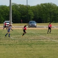 Photo taken at Corinth Soccer Fields by Erica M. on 4/19/2014