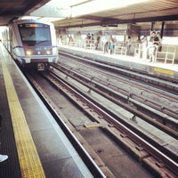 Photo taken at Estação Portuguesa-Tietê (Metrô) by Renan O. on 12/10/2012