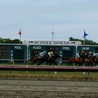 Photo taken at Suffolk Downs by Shawn F. on 7/9/2016