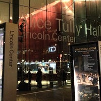 Photo taken at Alice Tully Hall at Lincoln Center by Markus S. on 12/21/2012