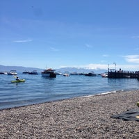 Photo taken at Tahoe Park Homeowners Beach by heather w. on 5/25/2014