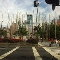 Photo taken at Plaza De La Luz by Klaudia on 12/29/2012