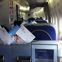 Photo taken at Lufthansa Flight LH 418 by Grant A. on 7/3/2012