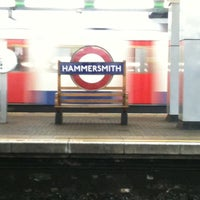 Photo taken at Hammersmith London Underground Station (District and Piccadilly lines) by Alicia N. on 8/13/2011