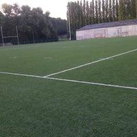 Photo taken at Football Field by Kallissa T. on 7/26/2012