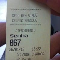 Photo taken at Celesc Ag. Brusque by Tarter E. on 1/26/2012