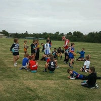 Photo taken at Overnewton Auskick Clinic by Rob H. on 3/25/2011