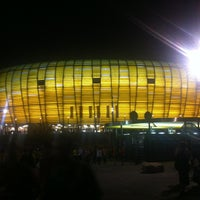 Photo taken at Stadion Energa Gdańsk by Lookzo B. on 6/18/2012