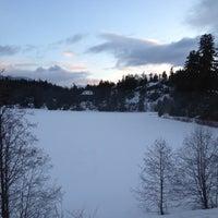 Photo taken at Nita Lake Lodge by Alexander K. on 3/21/2012