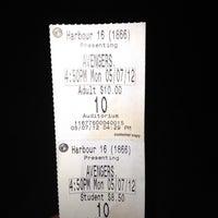 Photo taken at Regal Cinemas Harbour View Grande 16 by Toiya B. on 5/7/2012