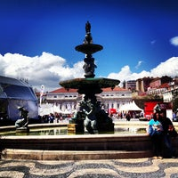 Photo taken at Rossio Square by Dong C. on 5/9/2013